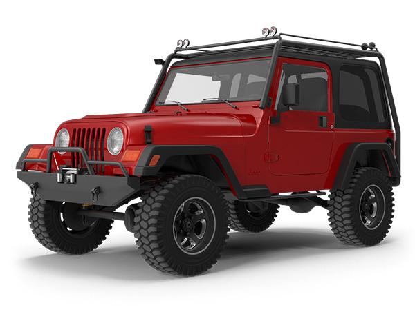 Jeep with Window Film